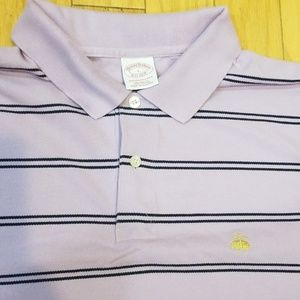 Brooks Brothers Purple Striped Polo Shirt